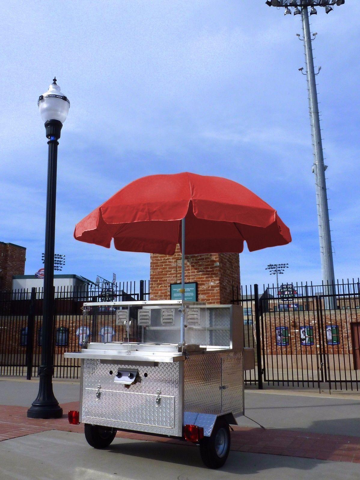 Mobile Hot Dog Cart Trailer Concession Food Vending Stand Kiosk Vendor Hotdog