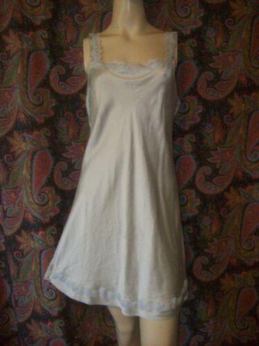 Olga Gray 100% Silk Lacy Sheath Mini Nightgown Nighty Lingerie L