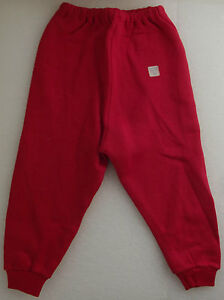 Vintage-baby-clothes-Boys-girls-UNUSED-red-jogging-bottoms-Age-1-Ladybird-1960s