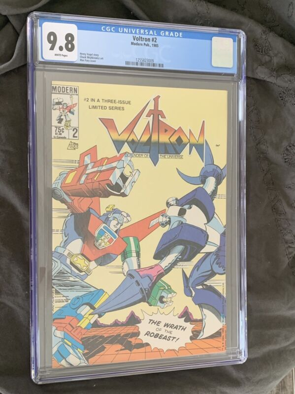 VOLTRON #2***CGC GRADE 9.8***DEFENDER OF THE UNIVERSE***THE WRATH OF THE ROBEAST