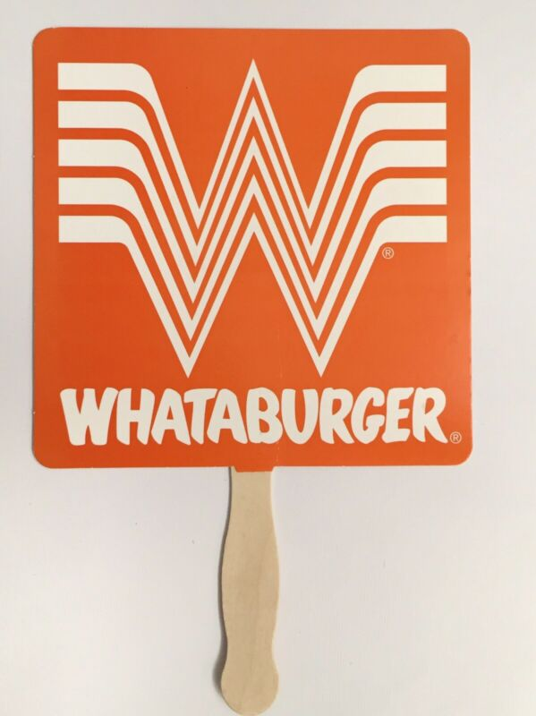Whataburger Advertising Cardboard Fan