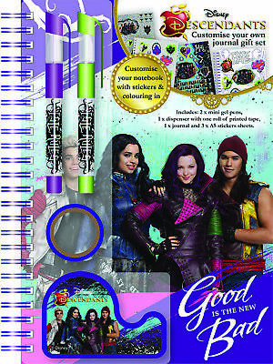 Disney Descendants Customising Journal Set Pencil Case Stationery Stickers