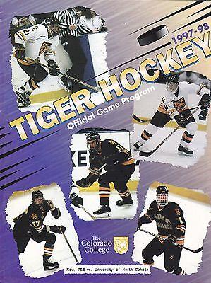 NOVEMBER 7-8, 1997 NORTH DAKOTA AT COLORADO COLLEGE NCAA HOCKEY PROGRAM