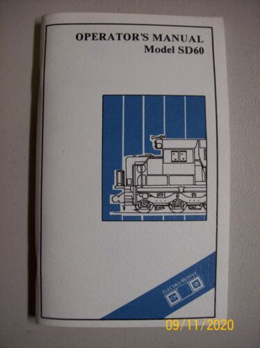 Electro-Motive Division Locomotive Operating Manual SD60 1st Edition