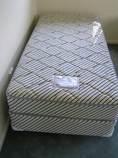 Pair of Sealy Executive Deluxe single divan beds in VGC