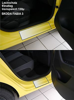Lackschutzfolie Einstieg für Skoda Fabia 3 Kombi und Limousine transparent 150µ