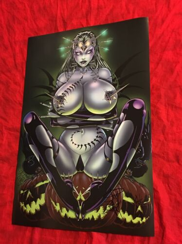 TAROT WITCH OF THE BLACK ROSE~GREEN HALLOWEEN~POSTER~HAND-SIGNED BY JIM BALENT