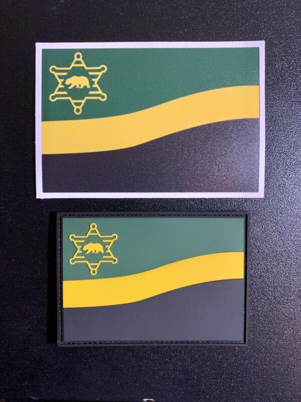 Los Angeles County Sheriff Department / LASD 3D PVC FLAG PATCH & Decal (SET)