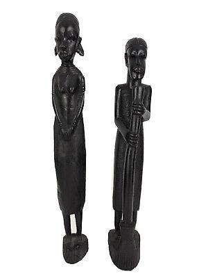 Figurines Man /& Women Heavy Wood 2 Vintage Wood Tribal Art Sculptures Price for Both Ebony?
