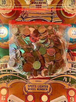 Lot of 250 Arcade Tokens Various Brands, Venues, and Eras