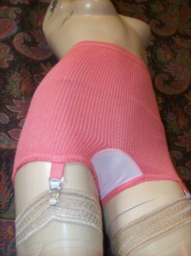 Vintage Denmore Coral High Waist Brief Panties Panty Garter Girdle Lingerie S