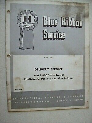 Original International Delivery Service 706 806 Series Tractor Service Manual