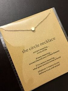 Brand New Gold Dipped Karma Circle Necklace Jewelry Good Gift Dogeared-Style