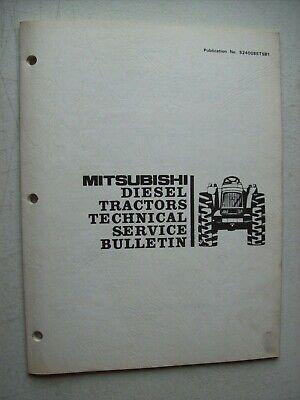 Original Mitsubishi Diesel Tractors Technical Service Bulletin 5240085tsb1
