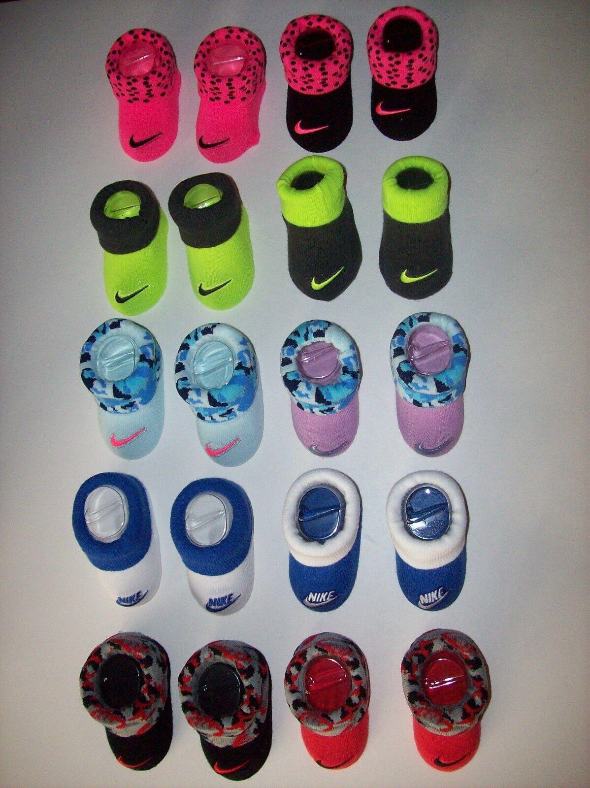 Nike Crib Shoes Booties Socks Baby Boy Girl Swoosh Select Style Color 0-6 Mo NIB