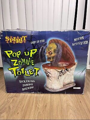 Spirit Halloween Pop Up Zombie Toilet Animated Pop-up