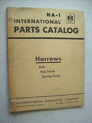 Original International Harrows Disk Peg Spring Parts Catalog Manual Ha-1