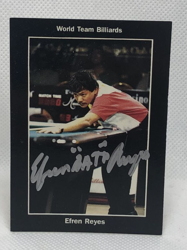 Autographed BCA Hall of Fame EFREN REYES Signed Pool Team Philippine Player Card