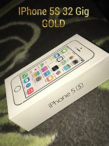 32 Gig Gold IPhone 5S