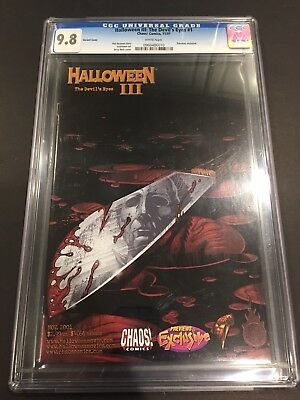 Halloween III Previews Cover. The Devil's Eyes #1 Comic Michael Myers. CGC 9.8 - Halloween Michael Myers Comics