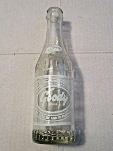 VINTAGE 1951 GOODY BRAND ADVERTISING 7 OUNCE SODA POP GLASS BOTTLE