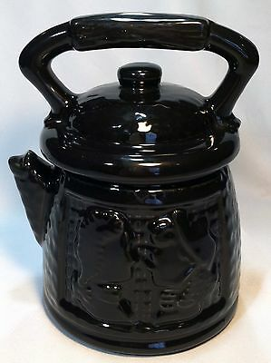 Vintage McCoy Black Teapot Coffee Pot Colonial Couple Cookie Jar