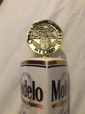 """3 Sided Modelo Especial Cerveza Gold Coin Logo Draft Beer Tap Handle 13"""" (Modelo Gold)"""