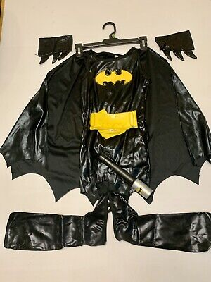 Batgirl Costume Accessories (GIRLS BATGIRL HALLOWEEN COSTUME SIZE S Small WITH ACCESSORIES Make An)