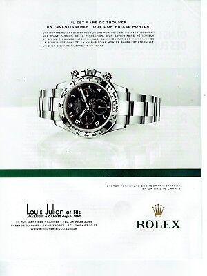 Publicité Advertising 019  2013   la montre Rolex cosmograph daytona or gris