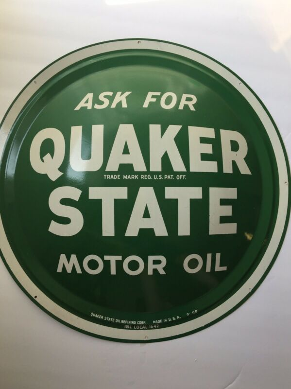 "Quaker State Motor Oil 24"" Button Sign"
