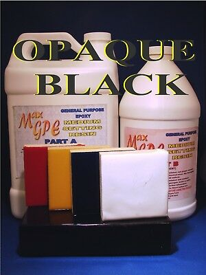 Epoxy Black Resin 4 Casting Coating Fiberglassing Seal Gel Coat 4 Boats 1.5gal