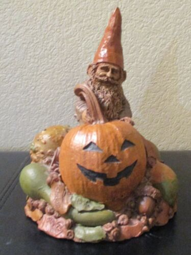 """Tom Clark Gnome with Pumpkin & Gourds 1984 #73 7"""" Tall"""