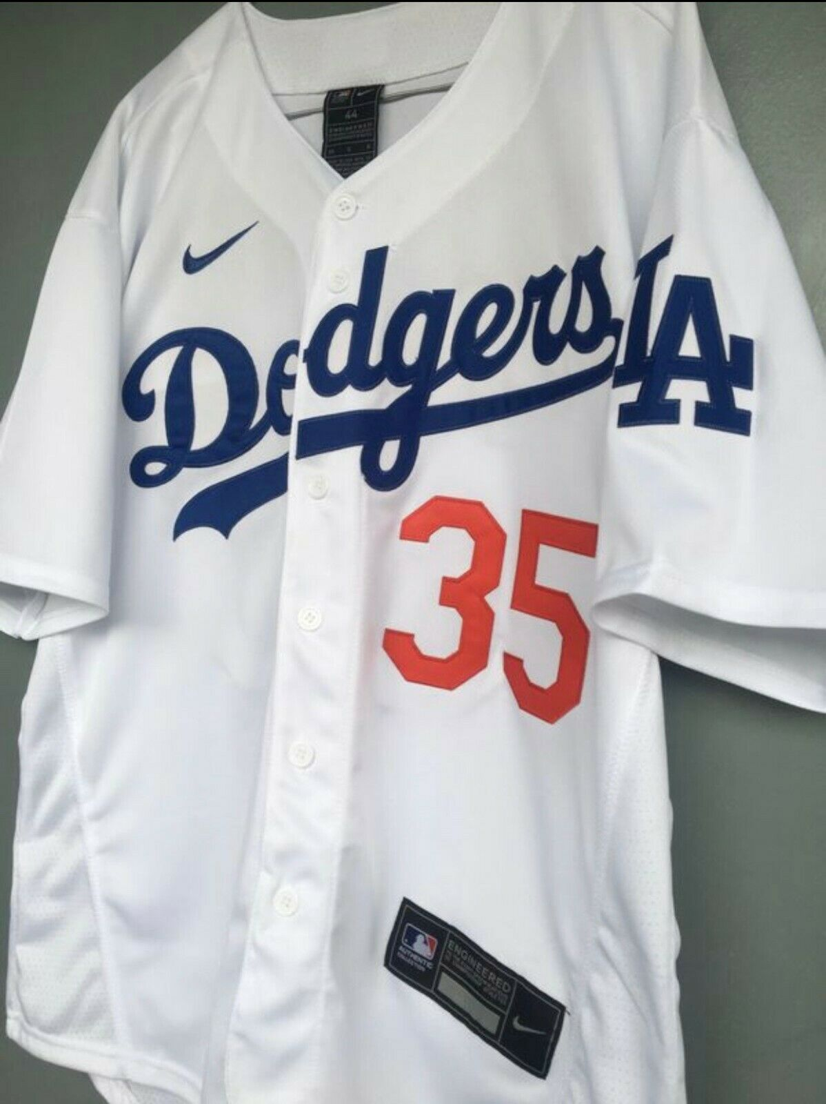 Men's Los Angeles Dodgers #35 Cody Bellinger White 2020 Jers