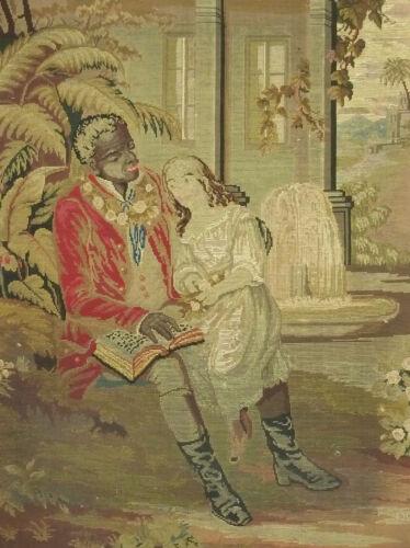 Large Image Gobelin Tapestry Um 1860 Colonial Style Negro