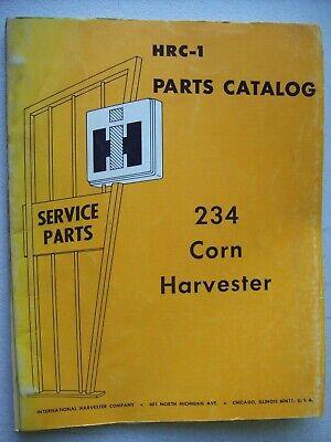 Original International 234 Corn Harvester Hrc-1 Parts Catalog Manual