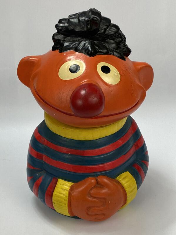 Vintage Ernie Ceramic Cookie Jar Muppets Sesame Street- Hand-Painted