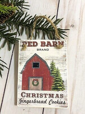 Vintage Christmas Barn farm Tree Ornament Farmhouse Country Western Rustic Decor ()