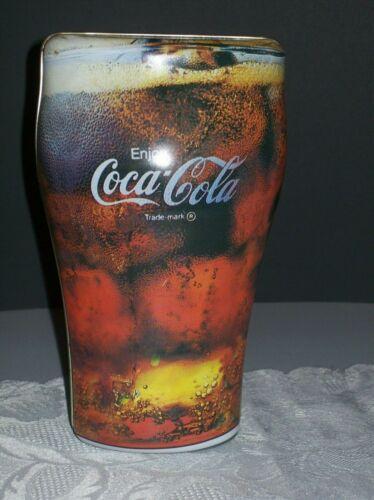 COCA-COLA COLLECTIBLE VINTAGE TIN REPLICA OF GLASS OF COKE