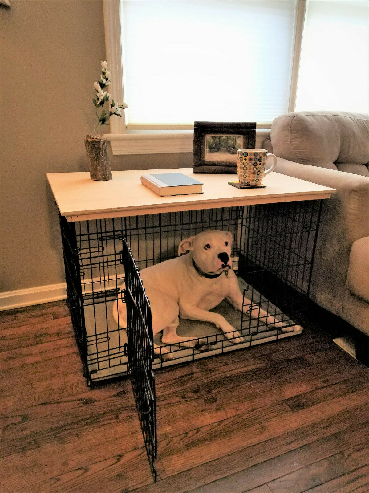 DOG CRATE TOPPER COFFE TABLE END TABLE SMALL