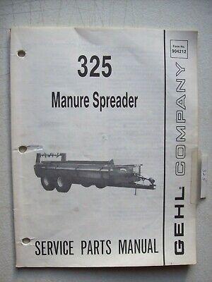 Original Gehl 325 Manure Spreader Service Parts Manual