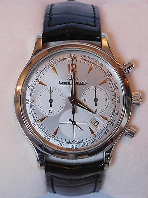 Jaeger LeCoultre Master Control Chronograph Ref.145.8.31 Steel Watch Men's