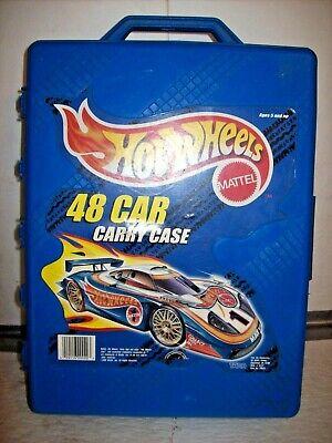 Vintage & Modern Hot Wheels - Lot of 49 DieCast Cars In 1999 Blue Case
