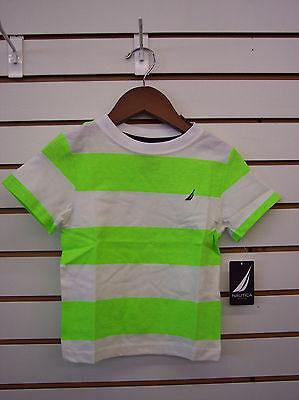 Toddler Boys $20.00 Nautica Neon Green & White T-Shirt Size 2T