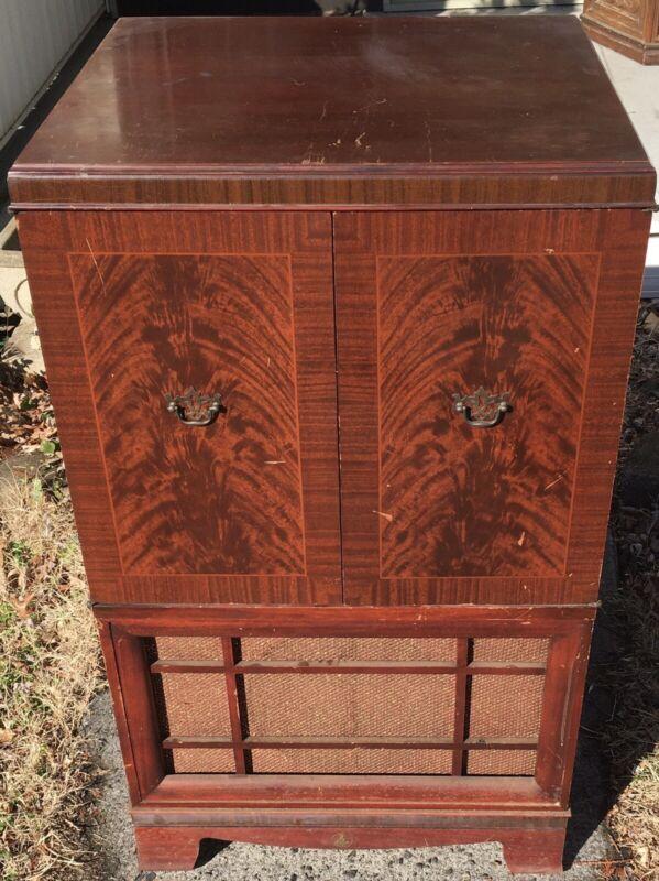 Vintage Antique 1950s? Emerson Television Cabinet TV Furniture