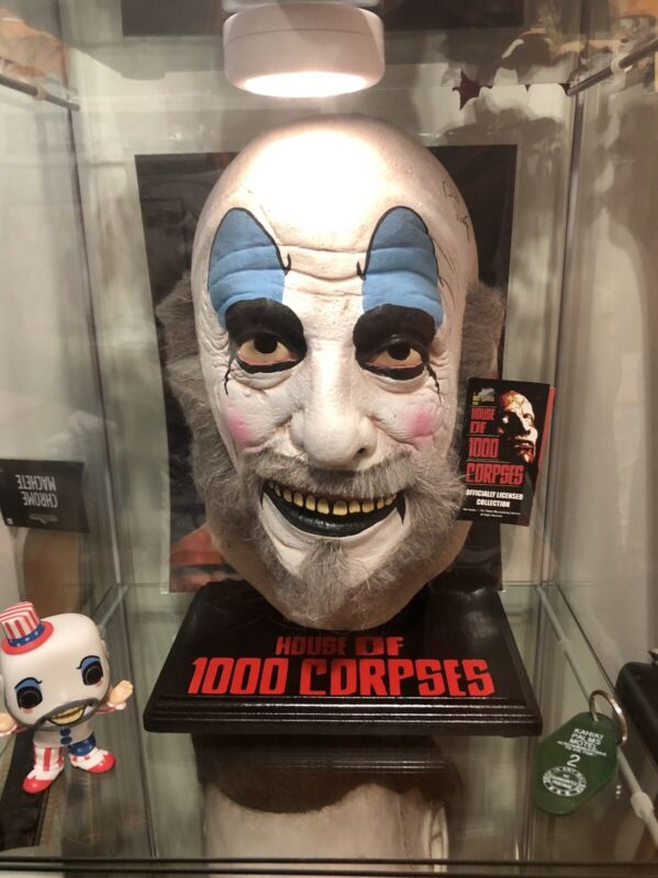 House Of 1000 Corpses Mask Display Stand CUSTOM BLACK Captain Spaulding 🔪🔥