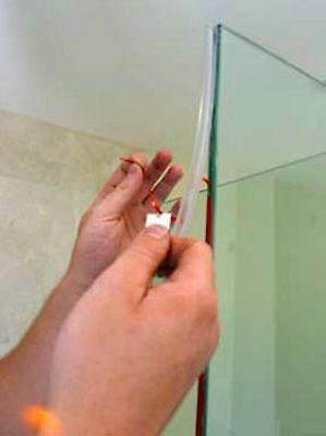 Shower Door Bulb Seal Kit (2 Bulb Seals and VHB Tape)