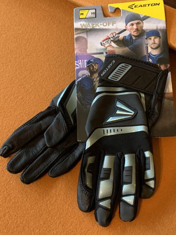 Easton Walk-off Youth Batting Gloves Black Medium