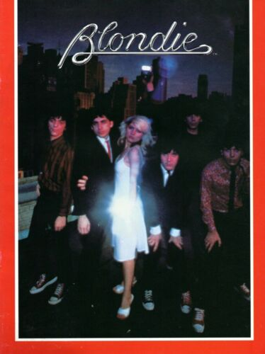 BLONDIE 1979 PARALLEL LINES TOUR CONCERT PROGRAM BOOK/DEBORAH HARRY-NEAR MINT