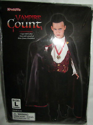 Kangaroo Vampire Count Dracula Halloween Costume Youth Boys Girls Size Large 14 - Kangaroo Costume Halloween