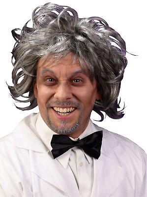 haftler Perücke Grau Alter Mann Großvater Doc Brown Rick (Wissenschaftler Perücke)